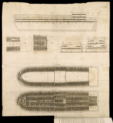 Plan of the slave ship <em>Brookes</em>, from Thomas Clarkson's